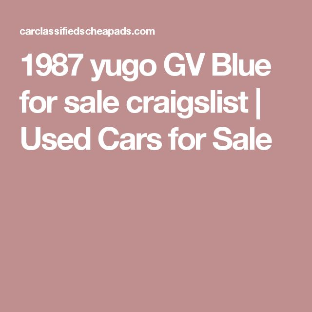 17 Best Ideas About Craigslist Cars On Pinterest