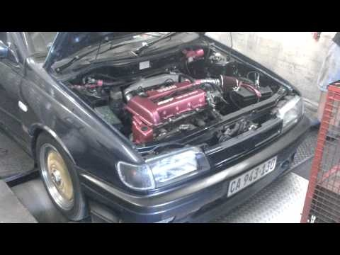Nissan Sentra with SMT8L piggy-back engine management from RBT (Perfect Power Dealer in South Africa).     -  linear gears  -  RBT intake  -  70ml throttle bodies  -  XR8 airflow meter  -  SMT8L Perfect Power Piggy-Back Engine Management System