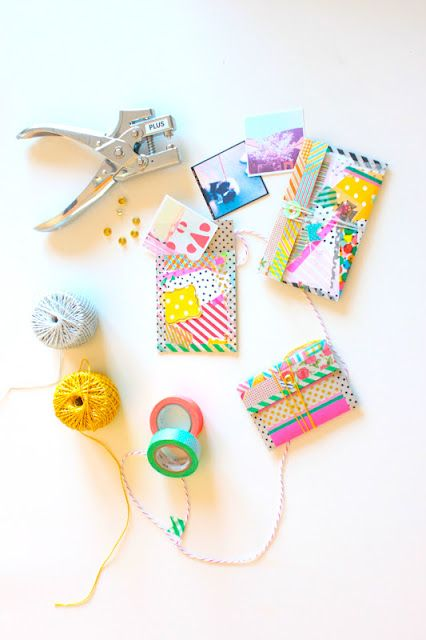 DIY washi envelopes