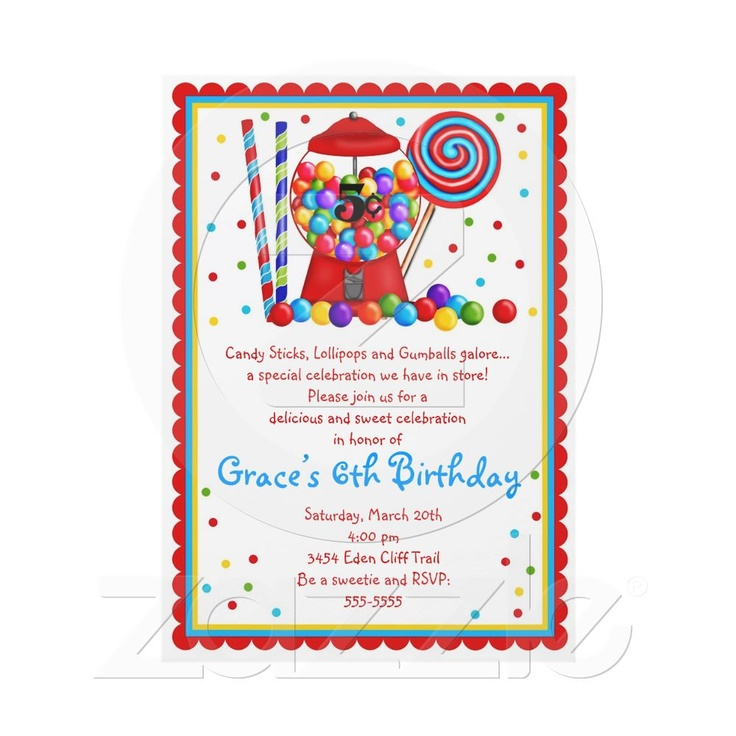 111 best Candyland invitations images on Pinterest | Invitation ...