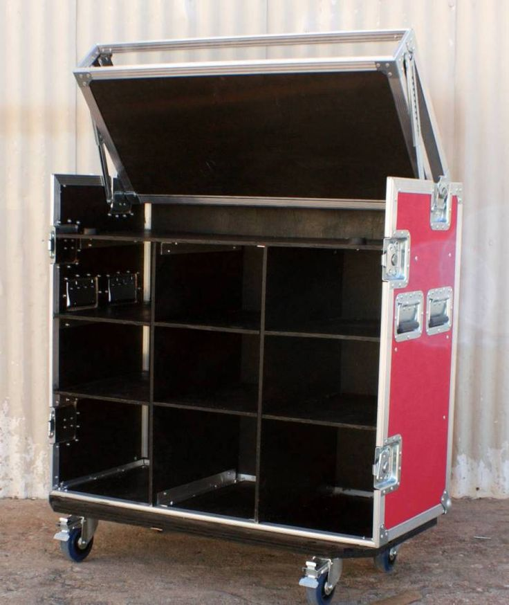 Band Merchandise Case - Storage in the back, and a Plexiglass top that lifts up displays the items for sale to the public