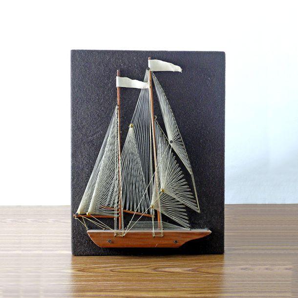 String Art Sail Boat