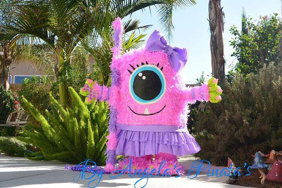 Little Monsters Pinata Little Girly Monsters by angelaspinatas
