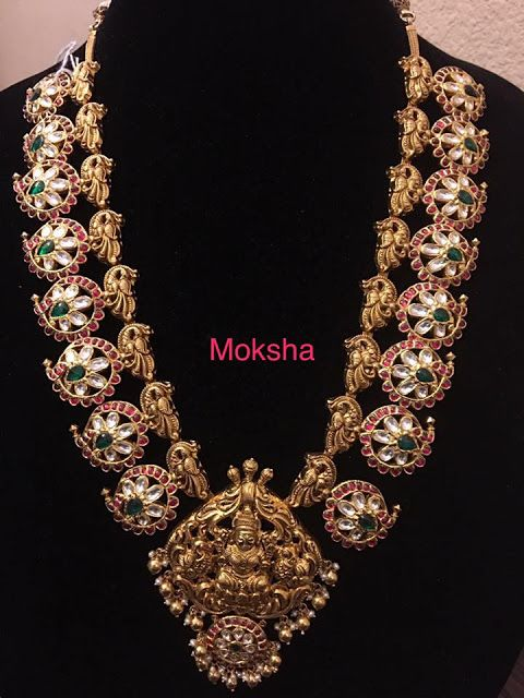 Pota Ruby Peacock Mango Set 210 grams - Jewellery Designs