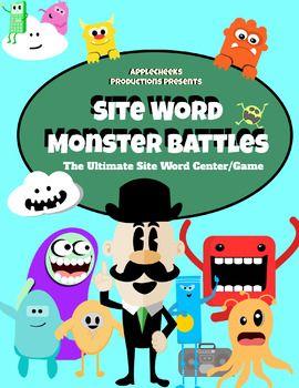 Site Word ELA Center (1st Grade) Monster Site Word Battle Game/Center