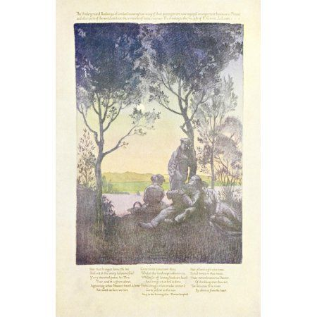 Posterazzi War Posters 1920 Song to the Evening Star Canvas Art - F Ernest Jackson (24 x 36)