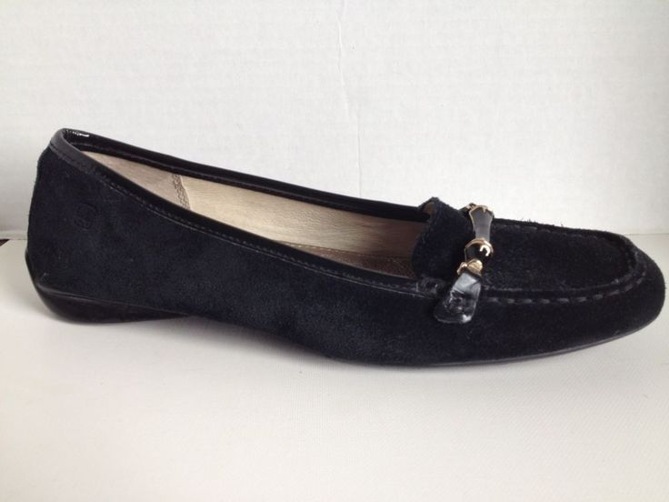 Sperry Topsider Shoes Womens Size 8.5 M Black Suede Loafers 8 1/2 Driving Mocs    eBay