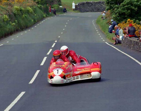 1985 Sidecar TT with Barry Dunn in the chair Isle of Man | Bikes | Pinterest | Sidecar and Road ...