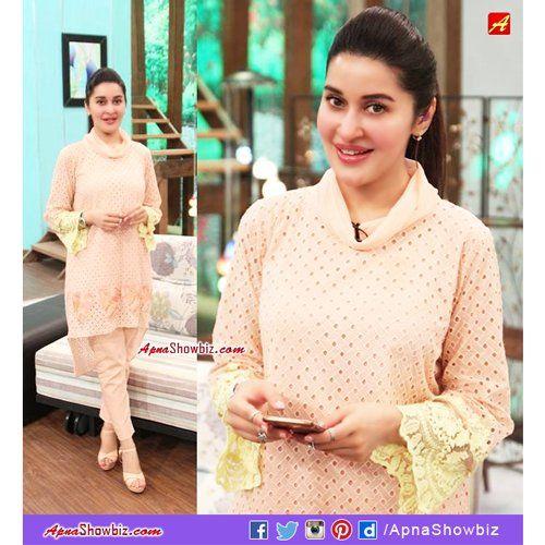 Dr. Shaista Lodhi, today at Sitaray Ki Subha    #Pakistan #ShaistaLodhi #Fashion #Style #Hairstyle #HUMSitaray #MorningShow
