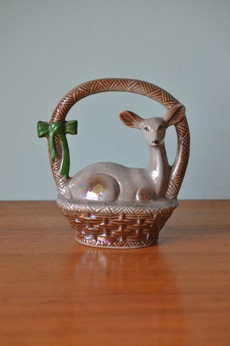 Vintage ceramic deer figure figurine Brazil - Funky Flamingo