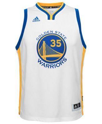 adidas Kids' Kevin Durant Golden State Warriors New Swingman Jersey - White XL