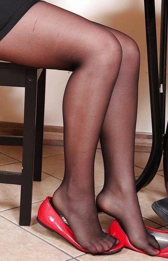 Фетиш чулки черные — pic 8
