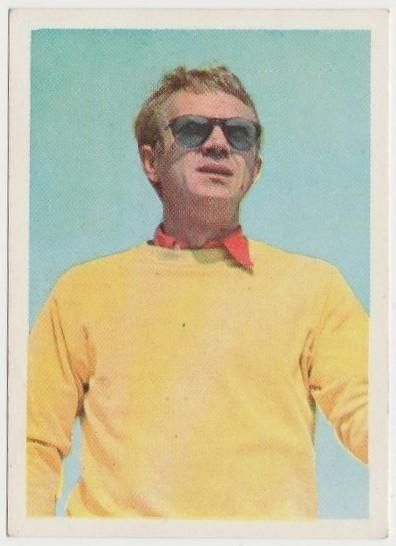 de0b7ff454 Steve McQueen 1964 Cumbre Film and Recording Stars Tobacco Card  54 ...