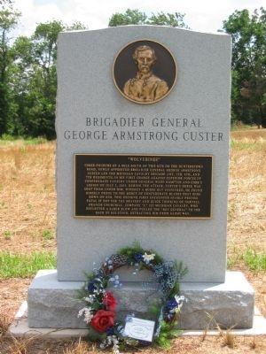 Custer monument at Hunterstown near Gettysburg.