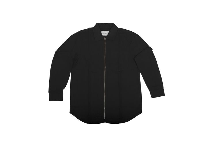 #OUR #LEGACY - ZIP #SHIRT JACKET BLACK/COTTON LINEN WASHED