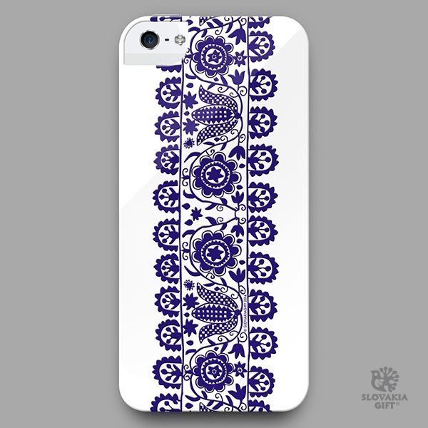smartphone cover - design inspired by folk embroidery pattern from Prievidza, Slovakia
