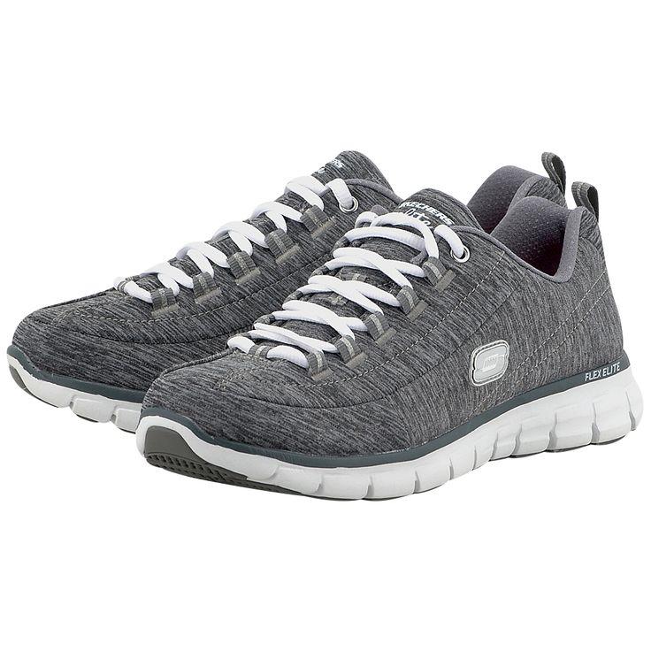 Γυναικεία αθλητικά παπούτσια σε γκρι χρώμα της εταιρείας Skechers για καθημερινές αθλητικές και casual εμφανίσεις      Εξωτερικό ύφασμα με κορδόνι για εύκολη εφαρμογή     Εσωτερική επένδυση από ύφασμα     Memory foam πάτος για μεγάλη αίσθηση άνεσης και ξεκούρασης     Σόλα με κοψίματα για προστασία