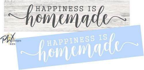 HAPPINESS IS HOMEMADE Stencil