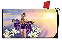 Easter Cross Magnetic Mailbox Cover Holiday Briarwood Lane Standard