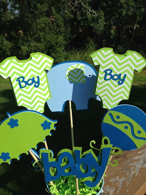 Blue And Green Living Room Ideas: Baby Shower Table Decoration Centerpiece It's A Boy