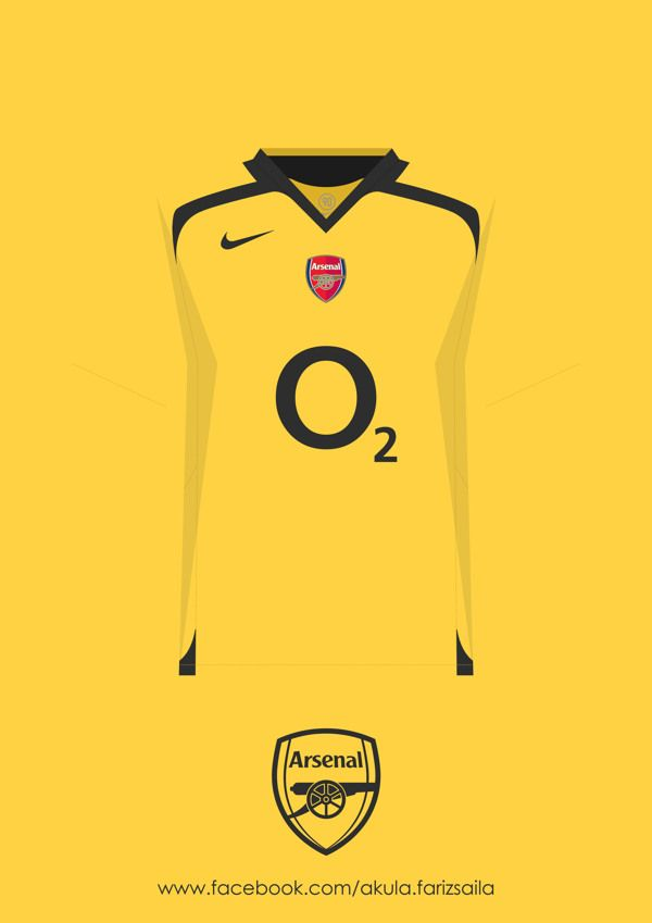 Arsenal 2005-2015 Kit Collection by Fariz Saila, via Behance