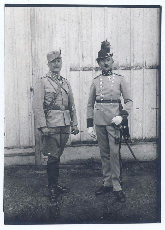 Field uniform and Dress uniform Austro-Hungarian Mountain troops, officer.