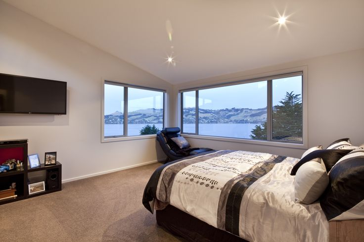 Appreciating the postcard view can also be achieved from the comfort and privacy of the master bedroom.