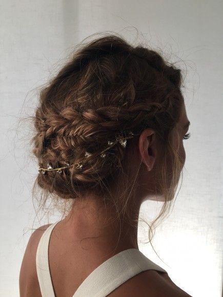 Beautiful braided updo tutorial