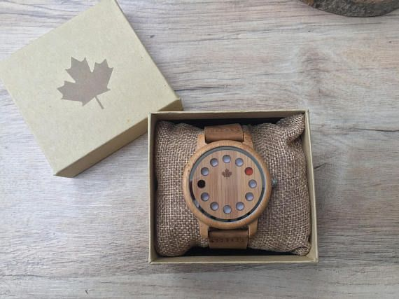 ARIZONA series - Classic Gents Wooden watches from TheWoodCraft. Mens Wooden watch, wooden wristwatches, wood watch, gifts for him. Uk based
