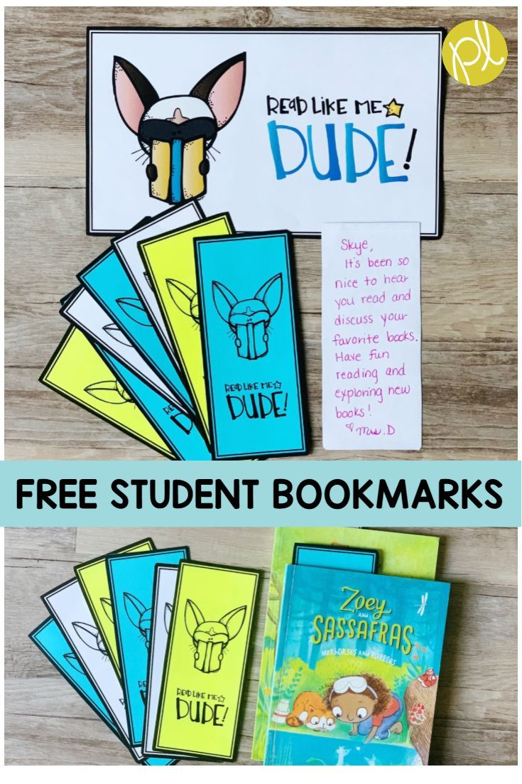 Free Student Bookmarks Positively Learning Student Bookmarks Positive Learning Student Gifts