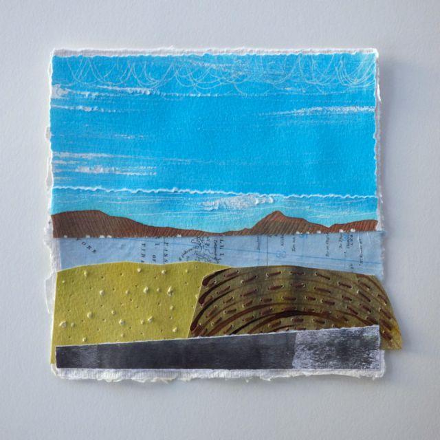 Joanna Caskie paper collage landscape