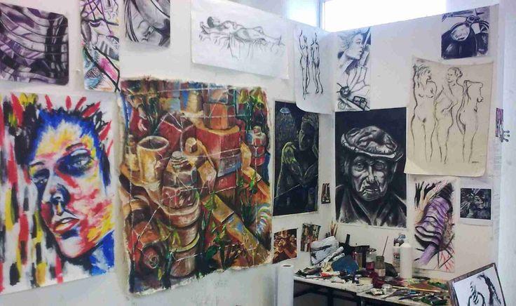 painters work space