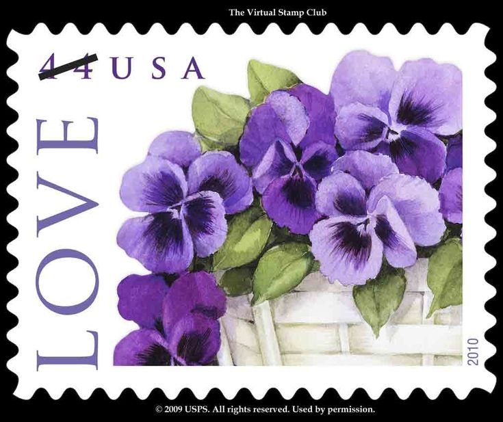 Pansy stamp.