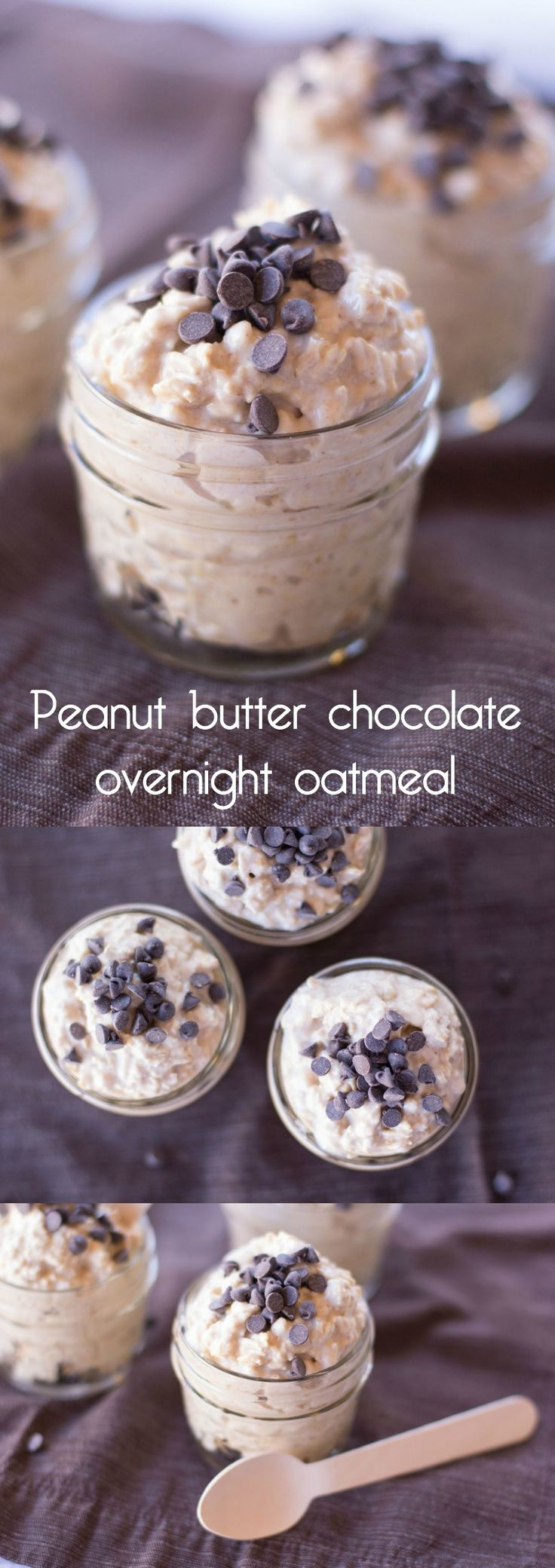 If you love overnight oatmeal, this peanut butter recipe uses PB2 so it's delicious with none of the guilt! Add chocolate chips for a sweet little treat. via @diy_candy