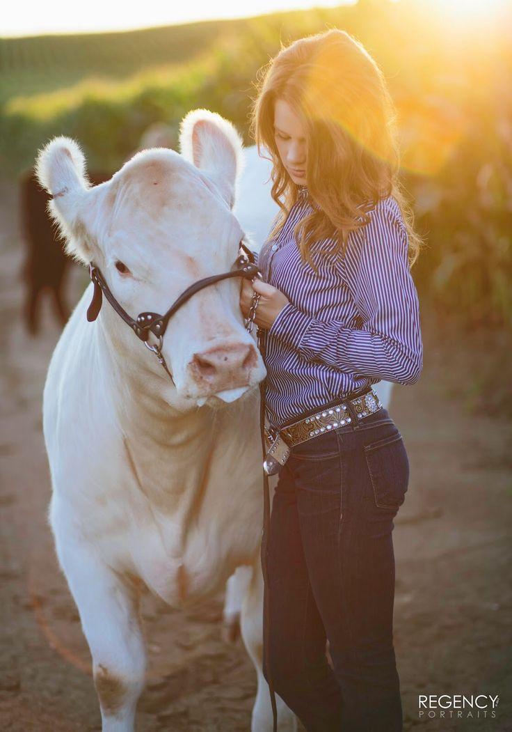 Senior pictures with cow. Senior girl. FFA senior pictures. 4H senior pictures…
