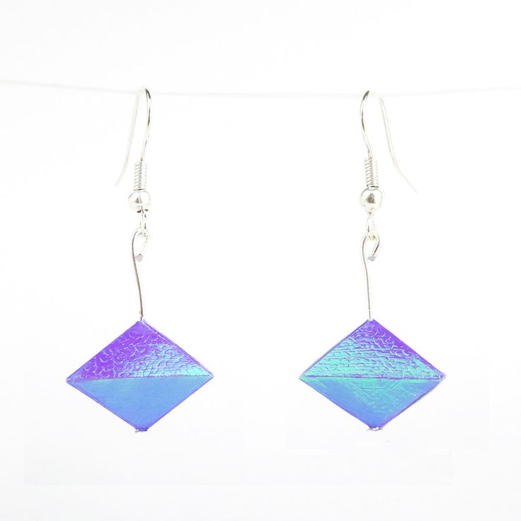 Origami Geo Earrings. Made in UK. Customise option available. #origami #earrings #paper #art #geo