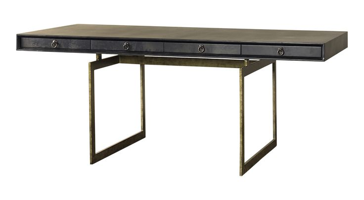 Cortes Desk - Art Deco Mid-Century / Modern Traditional Transitional Desks/Writing Tables - Dering Hall