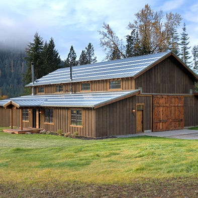 84 best rustic home exteriors images on pinterest rustic for Traditional barn kits