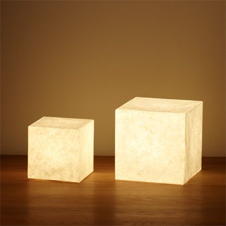Japanese paper floor light • Muji