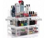 Factory custom acrylic display case acrylic make up organiser makeup drawer organizer CO-181