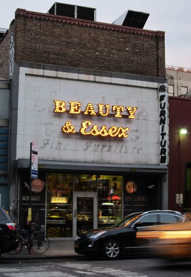Don't let the entrance fool you. Enter through the pawn shop to a gorgeous 3 story restaurant! So New York.