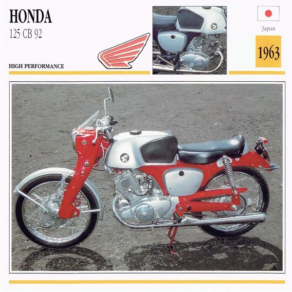 The Honda 125 Cb92 Is A Japanese Made High Performance Motorcycle Built In 1963 It Has Side Twin Cylinder Four Strok Honda 125 Honda Vintage Honda Motorcycles