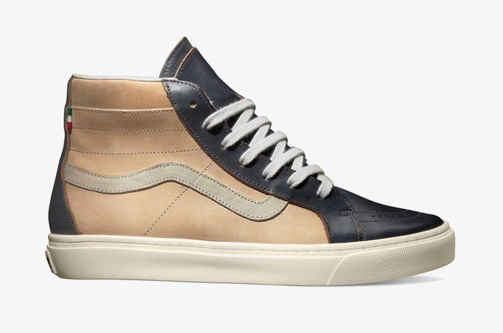 Kotníkové boty Vans x Diemme – Montebelluna Hi LX, luxusní, kožené, béžové, černé #vans #vault #diemme #sneakers  http://www.urbag.cz/luxusni-kotnikove-boty-nizke-tenisky-vans-vault-diemme/