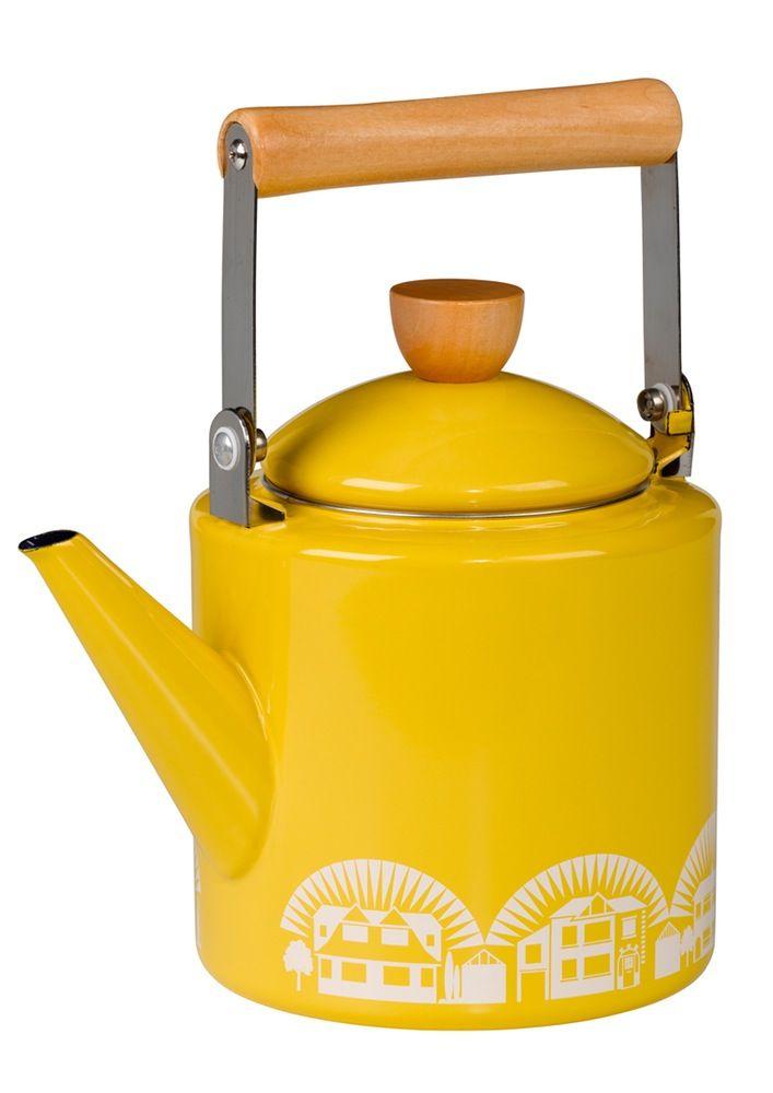 Mini Moderns | Enamelware Kettle - Mustard NOW IN STOCK!