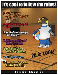 PE Rules poster. Great for the gym and to introduce rules in your PE class.