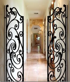 Wrought Iron Gates on Pinterest | Iron Gates, Wrought Iron and ...
