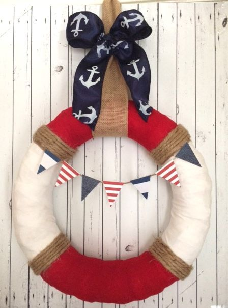 Patriotic/Nautical Themed Door Wreath - 33% Off   Find this deal and more at www.groopdealz.com