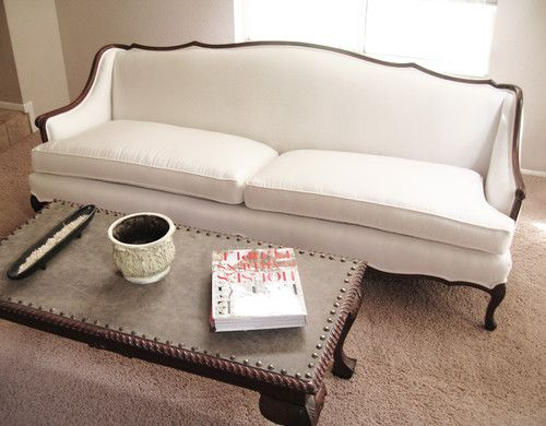 Beautiful Contemporary Living Room Madebygirl  French Provincial Sofa Re Upholstered