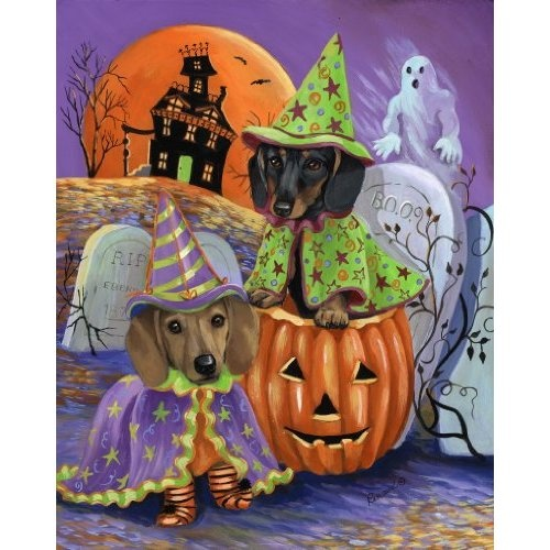 Wonderful Amazon.com: Dachshund Haunted House Garden Flag: Everything Else