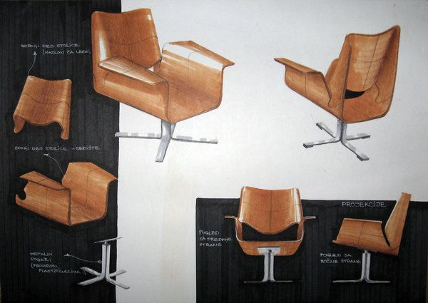 - Sketches and furniture analysis - sketching on Behance
